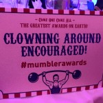 Clowning Around encouraged sign