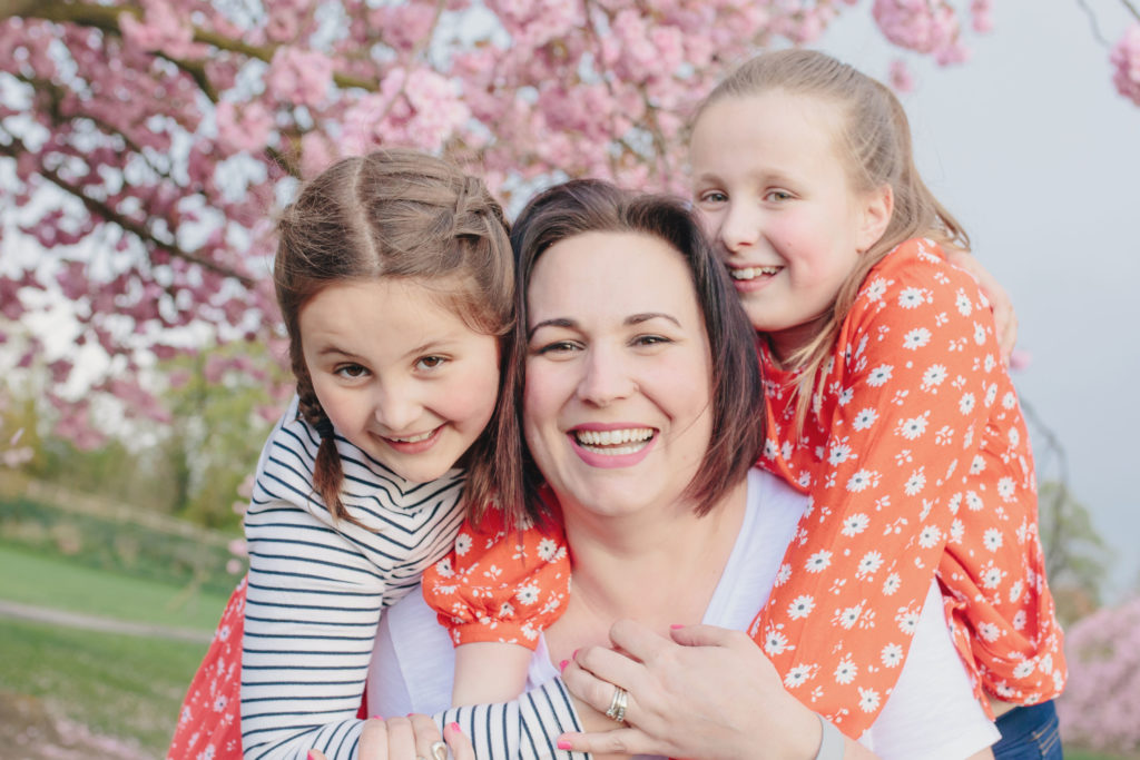 Sally Haslewood founder of Mumbler with her daughters