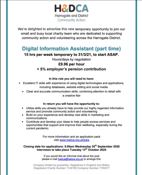 HDCA job ad
