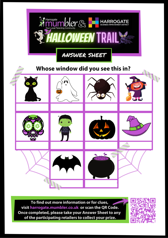 Halloween Answer Sheet Harrogate BID